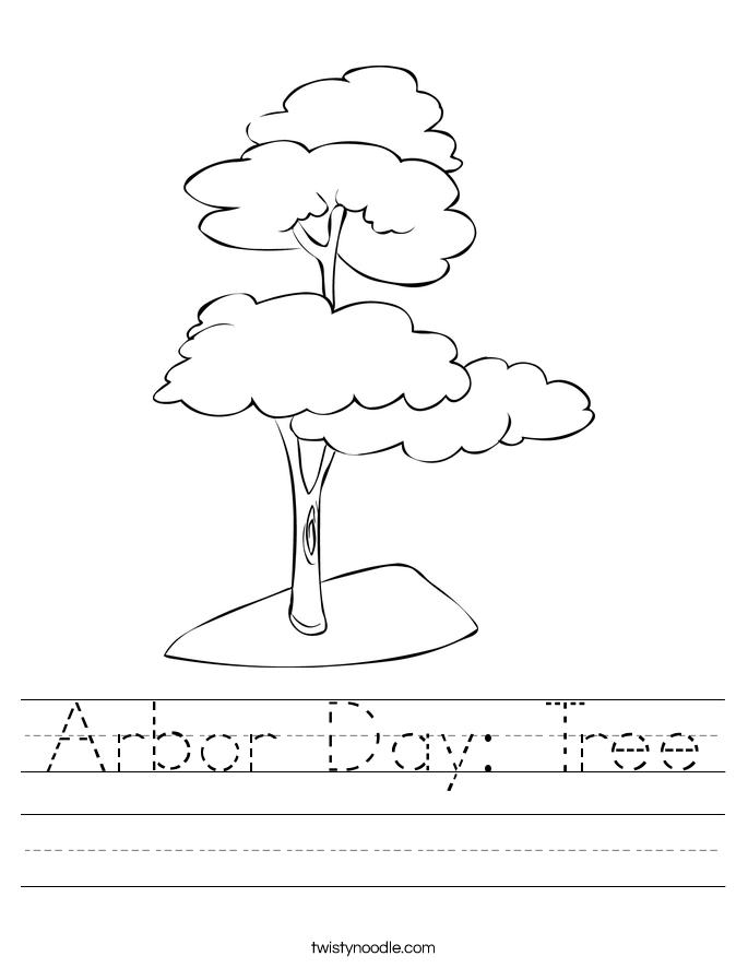 Arbor Day: Tree Worksheet