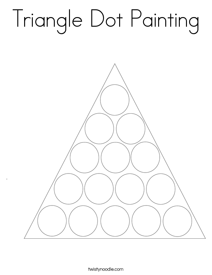 Triangle Dot Painting Coloring Page