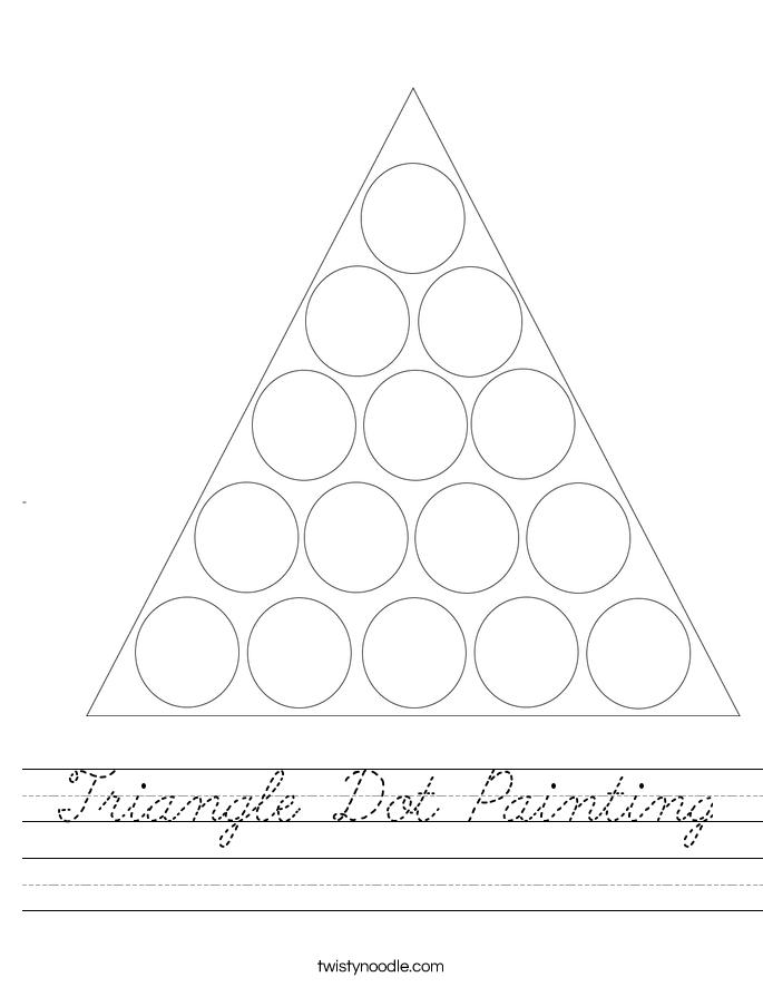 Triangle Dot Painting Worksheet