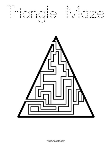 Triangle Maze Coloring Page