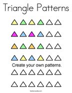 Triangle Patterns Coloring Page