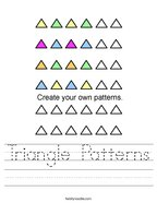 Triangle Patterns Handwriting Sheet