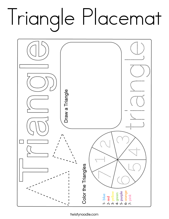 Triangle Placemat Coloring Page