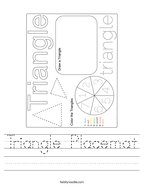 Triangle Placemat Handwriting Sheet