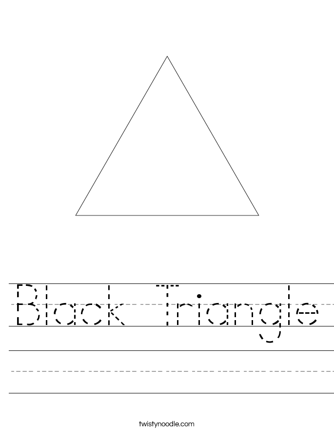 Black Triangle Worksheet