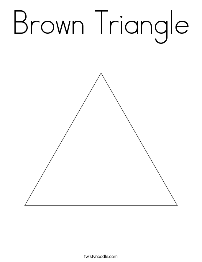 Brown Triangle Coloring Page