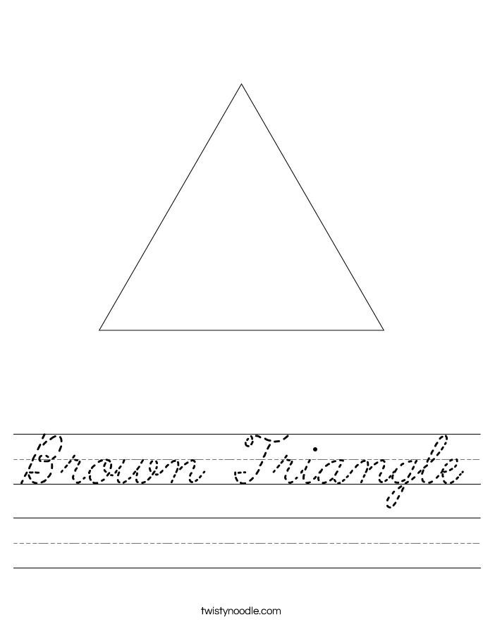 Brown Triangle Worksheet