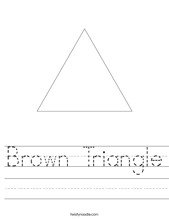 Brown Triangle Worksheet