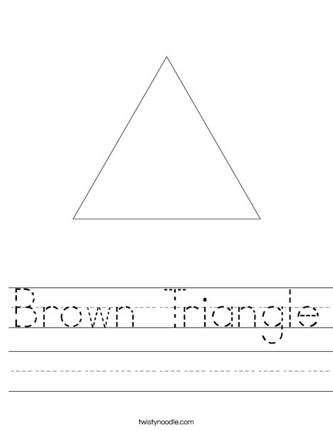 Brown Triangle Worksheet - Twisty Noodle