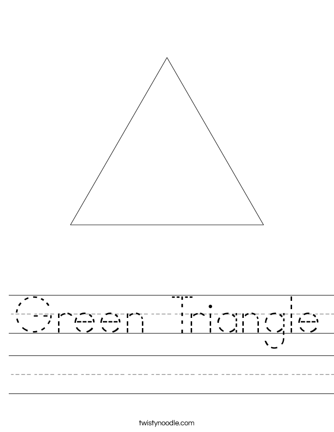 Green Triangle Worksheet