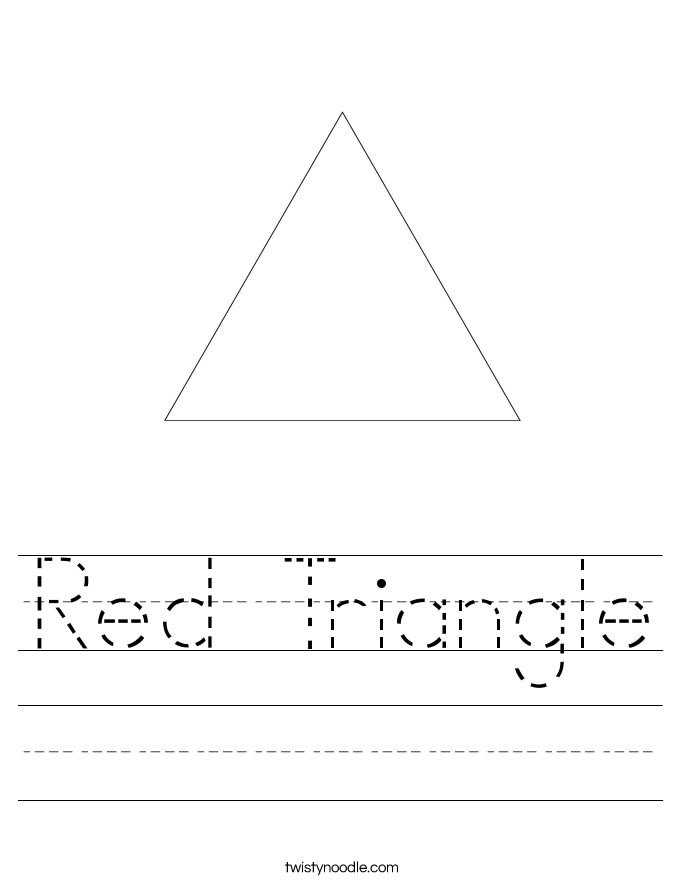 Red Triangle Worksheet Twisty Noodle – Triangle Worksheets
