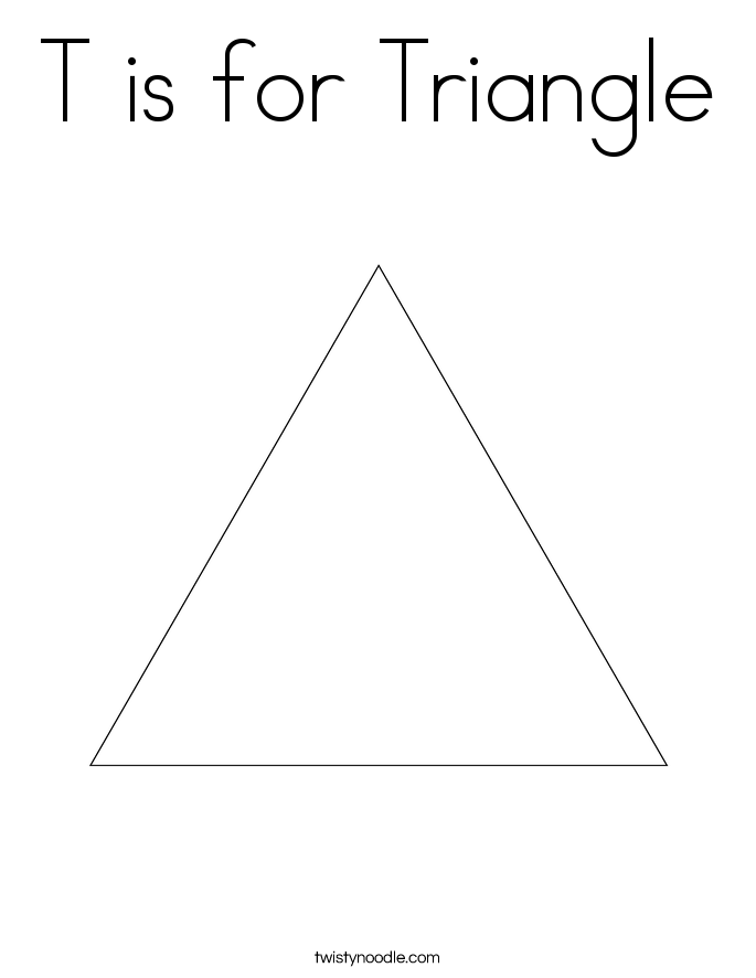 T is for Triangle Coloring Page