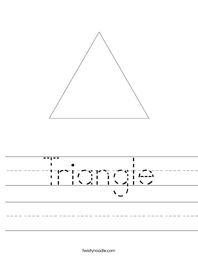 Triangle Worksheet Twisty Noodle – Triangle Worksheets
