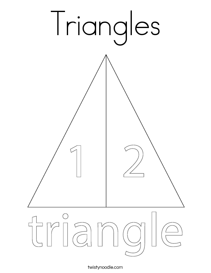 triangles coloring page - Triangle Instrument Coloring Page