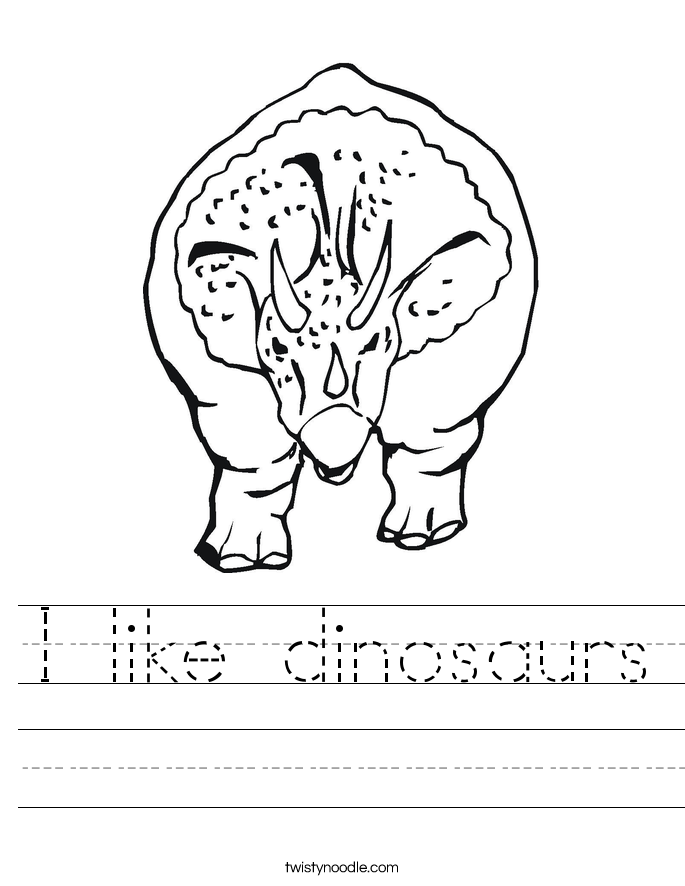 I like dinosaurs Worksheet
