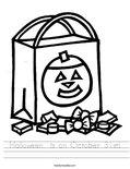 Halloween  is on October 31st! Worksheet