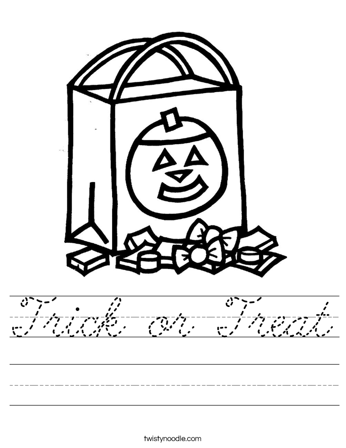 Trick or Treat Worksheet