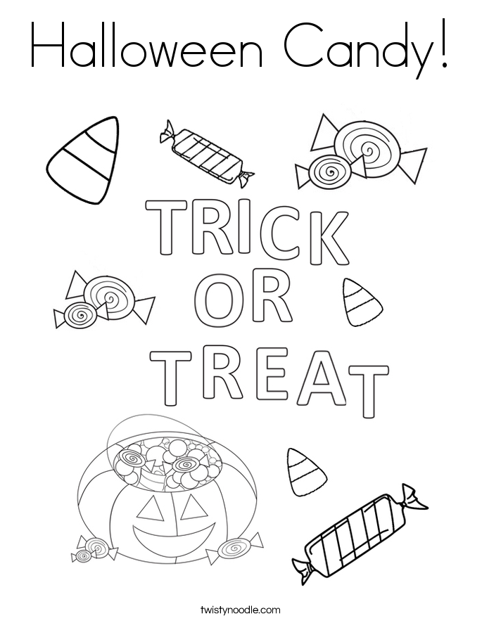 Halloween Candy! Coloring Page