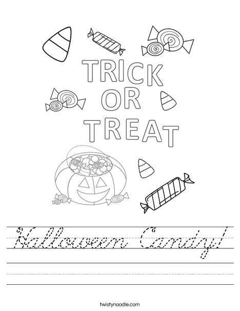 Trick or Treat Letters Worksheet