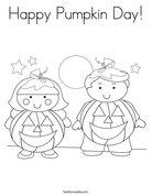 Happy Pumpkin Day! Coloring Page
