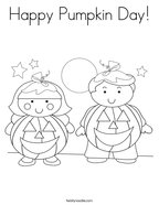 Happy Pumpkin Day Coloring Page
