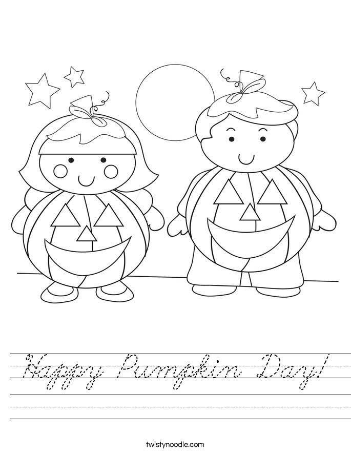 Happy Pumpkin Day! Worksheet