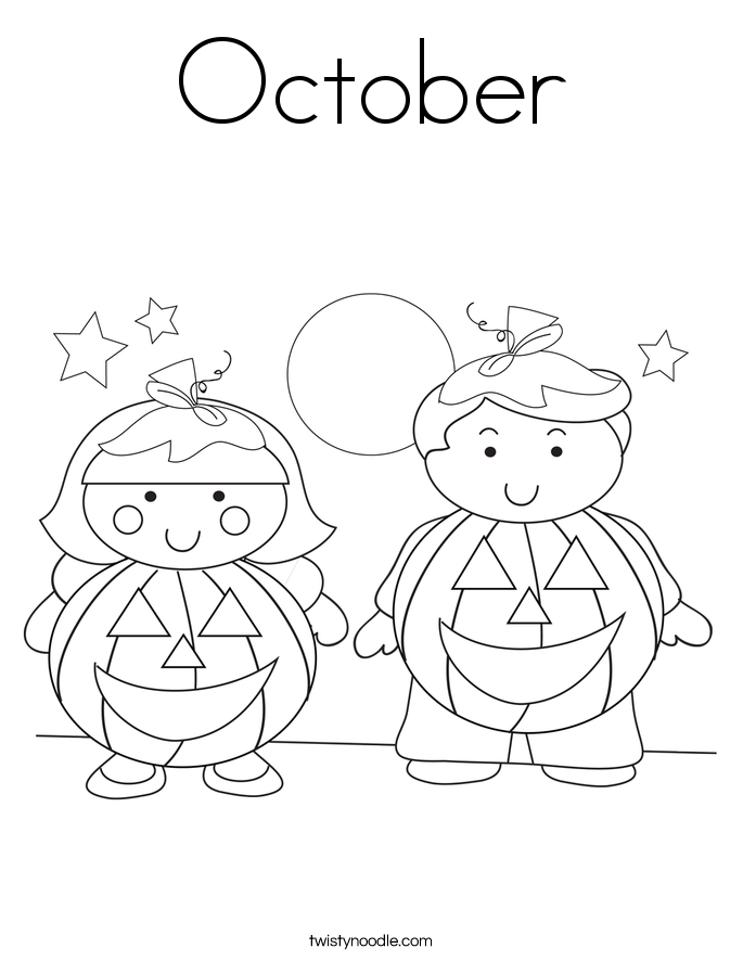 October Coloring Pages Coloring Pages October Coloring Page