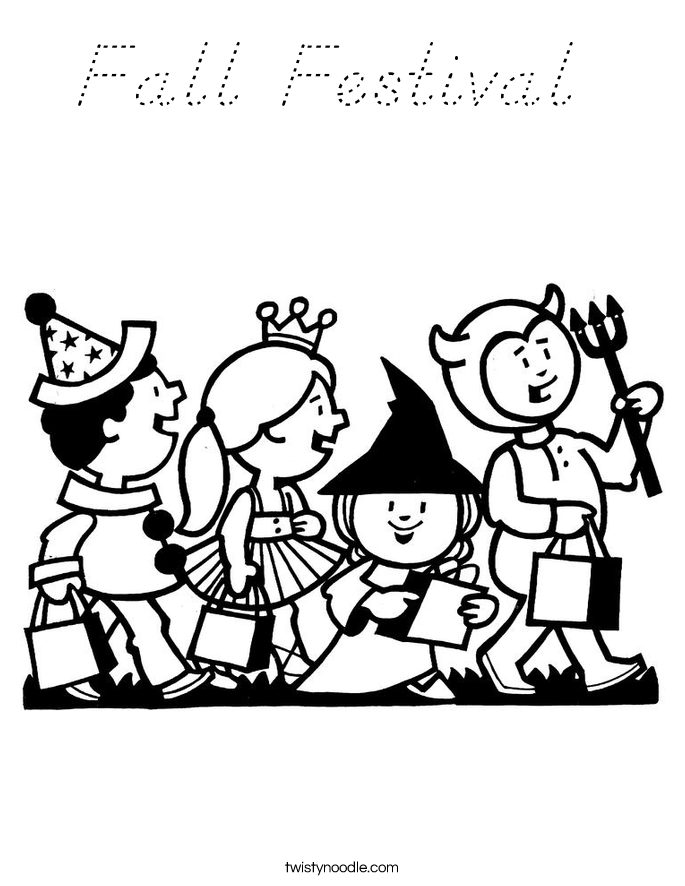 Fall festival coloring page d 39 nealian twisty noodle for Fall festival coloring pages