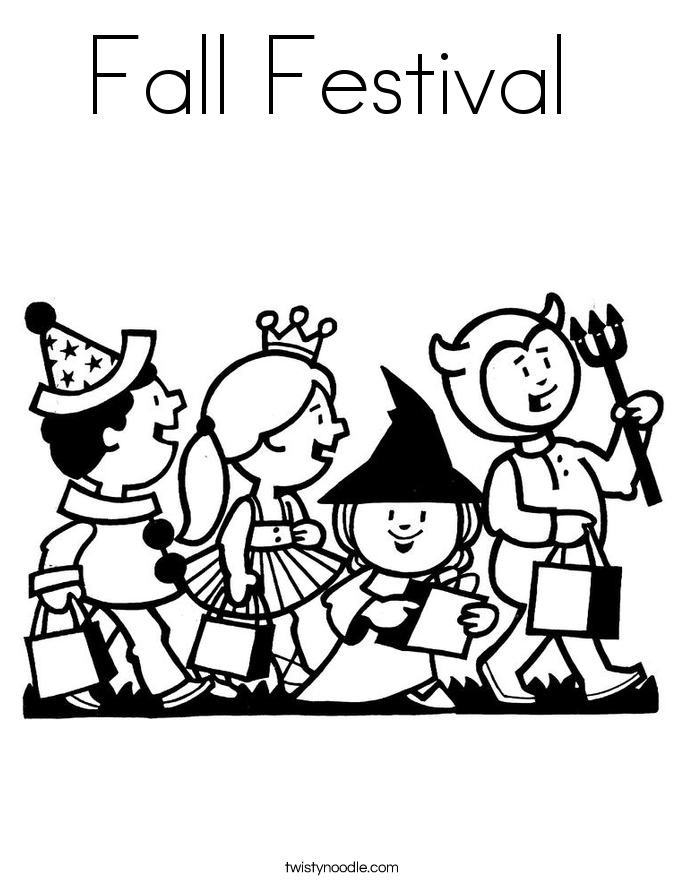 coloring pages fall halloween - photo#25