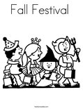 Fall Festival  Coloring Page