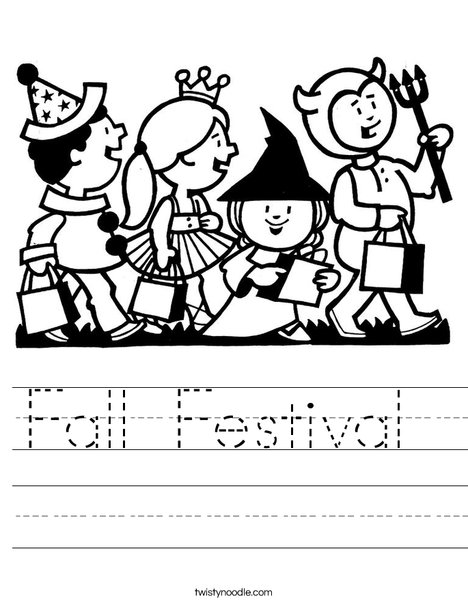 Trick or Treaters Worksheet