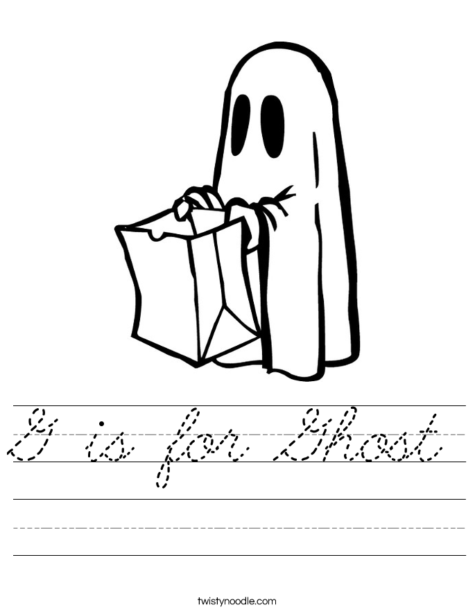G is for Ghost Worksheet