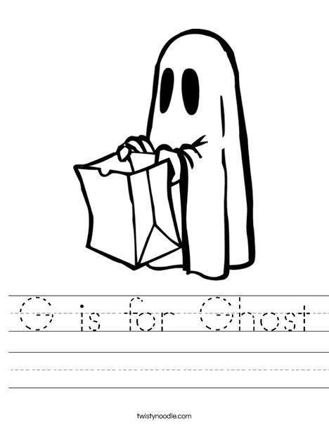 Trick or treating Ghost Worksheet