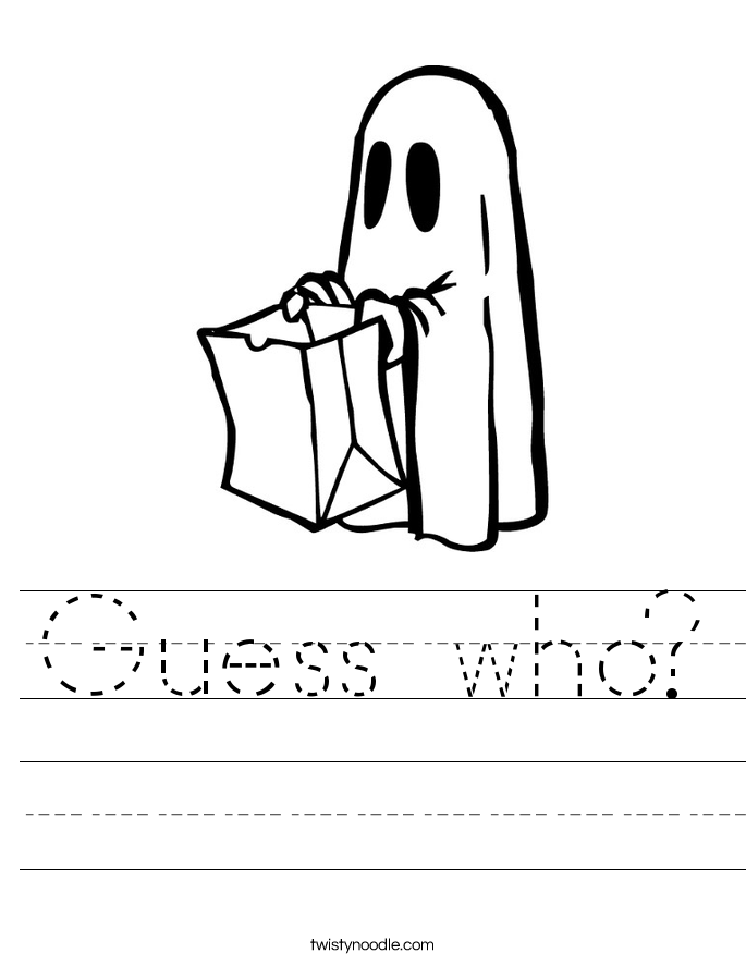 Guess who? Worksheet