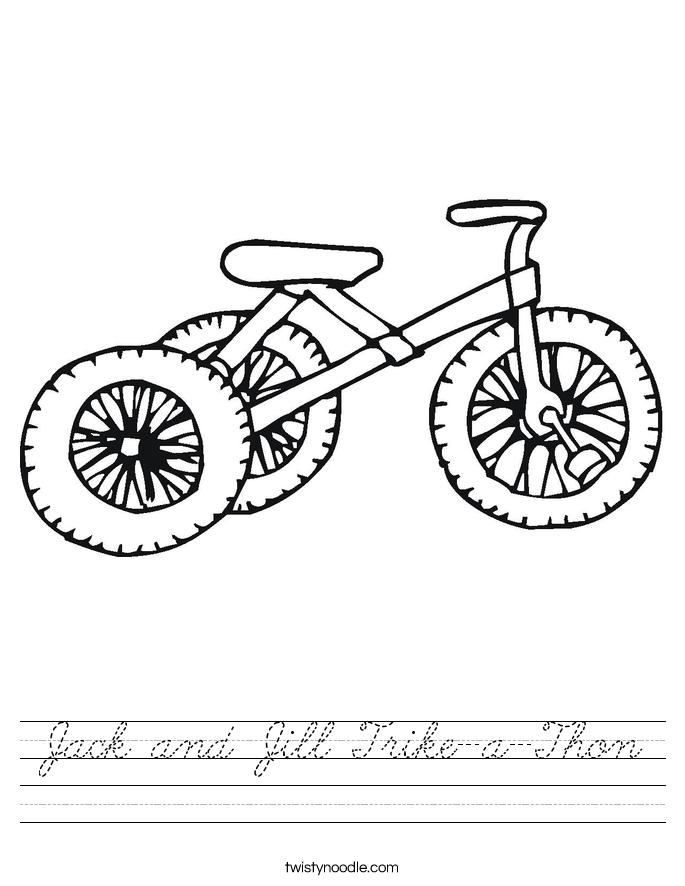 Jack and Jill Trike-a-Thon Worksheet