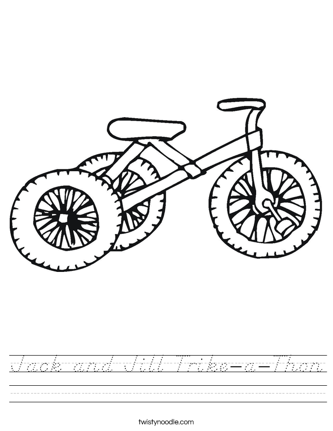 Jack and Jill Trike-a-Thon Worksheet