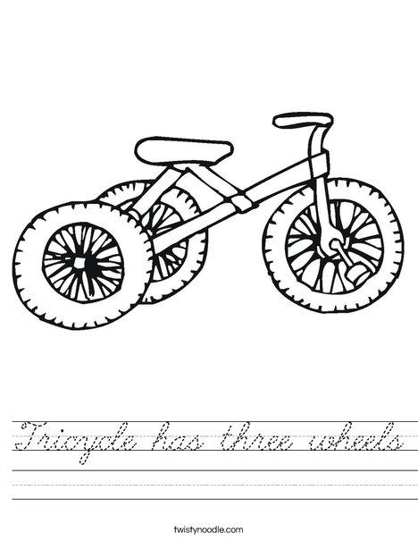 Tricycle Worksheet