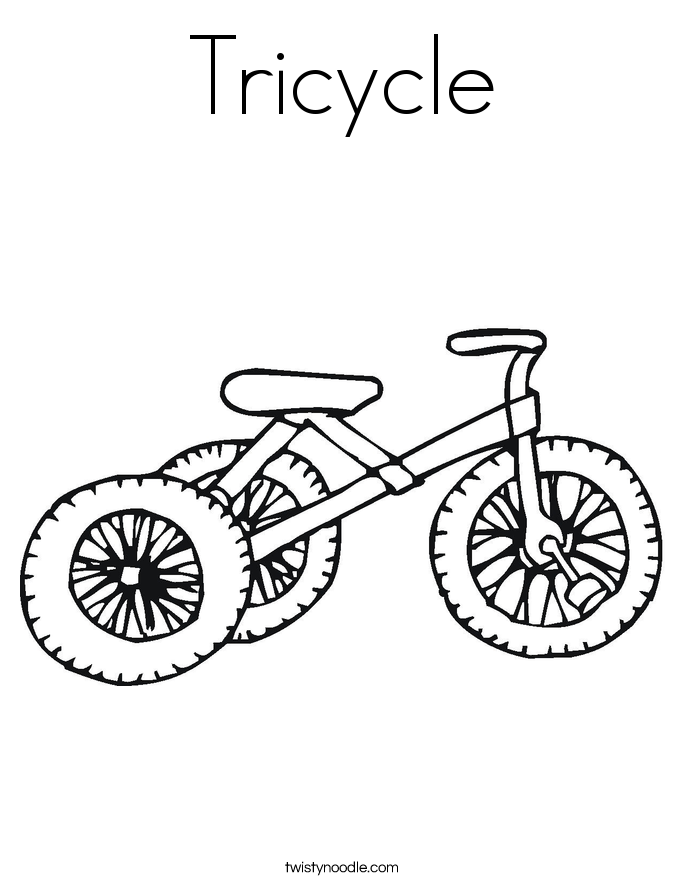 Tricycle Coloring Page