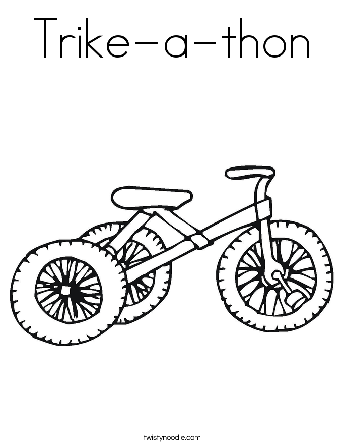 Trike-a-thon Coloring Page