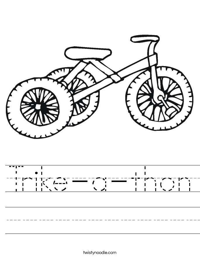 Trike-a-thon Worksheet