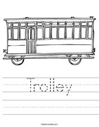 Trolley Handwriting Sheet