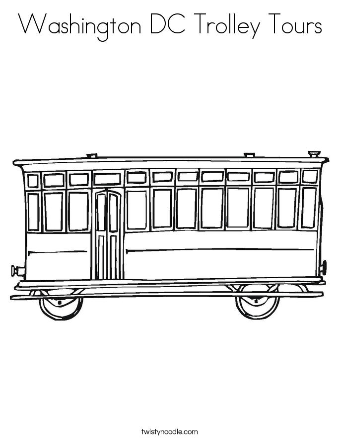 Washington DC Trolley Tours Coloring Page
