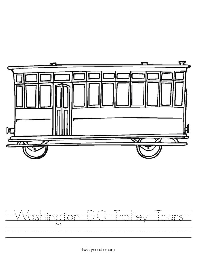 Washington DC Trolley Tours Worksheet