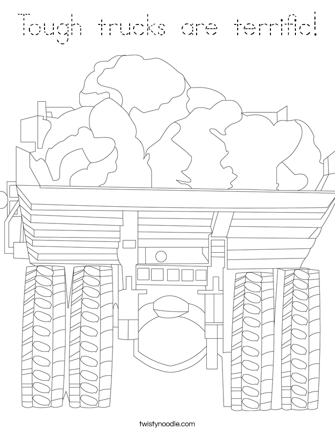Tough trucks are terrific! Coloring Page