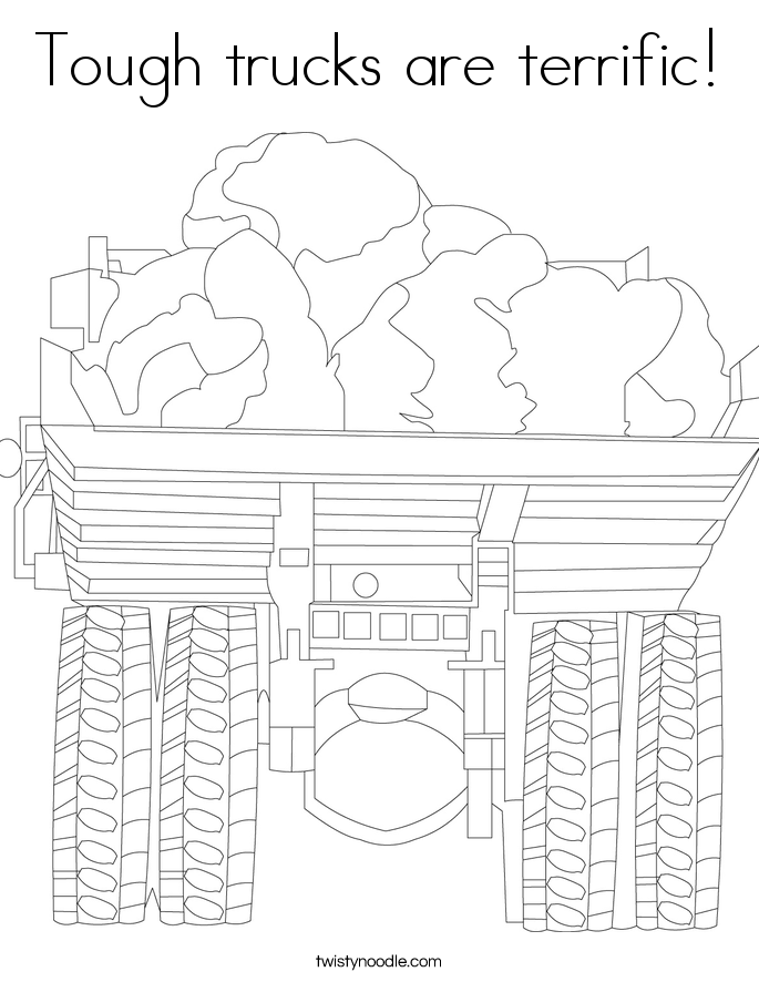 Tough trucks are terrific! Coloring Page