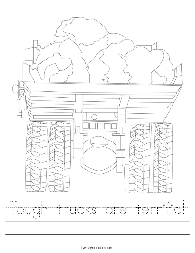 Tough trucks are terrific! Worksheet