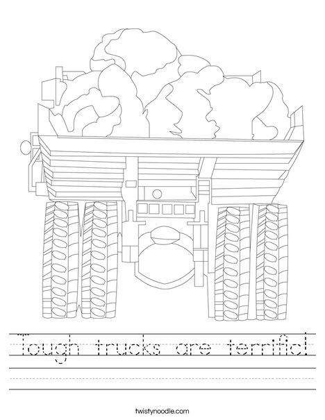 Truck with Rocks Worksheet
