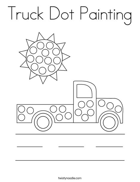 Truck Dot Painting Coloring Page