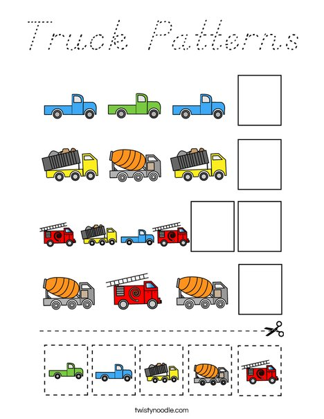 Truck Patterns Coloring Page