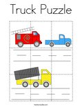 Truck Puzzle Coloring Page